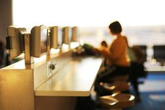 Internet cafe in airport. Stock Photography