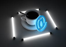 Internet cafe concept Royalty Free Stock Photo