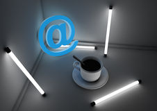 Internet cafe concept Royalty Free Stock Images