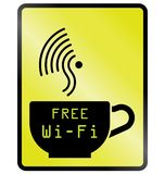 Internet cafe free WiFi Stock Photos