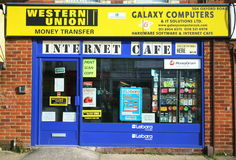 Internet Cafe Stock Photo