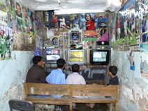 Internet cafe in Yemen Royalty Free Stock Photos