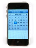 Internet-Calendar-Phone Royalty Free Stock Photography