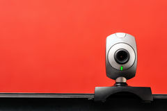 Internet camera on laptop computer Royalty Free Stock Photo