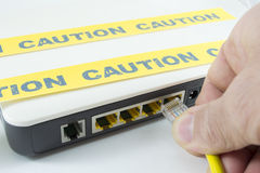 Internet caution Stock Images