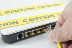 Internet caution Stock Images