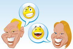 Internet chat conversation Royalty Free Stock Images