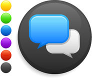 Internet chat icon on round internet button Royalty Free Stock Photos