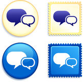 Internet Chat Stamp and Button Stock Image