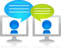 Internet chatting Royalty Free Stock Photo