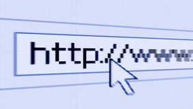 Internet che passa in rassegna Fotografia Stock Libera da Diritti