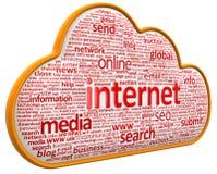 Internet chmura (ścinek ścieżka zawierać) Obrazy Royalty Free