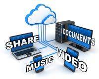 Internet chmura, pojęcie Obraz Royalty Free