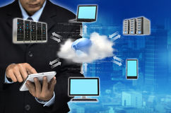 Internet Cloud Business Concept Royalty Free Stock Photos