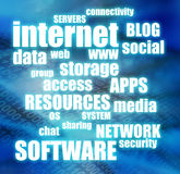 Internet and cloud computing Stock Image