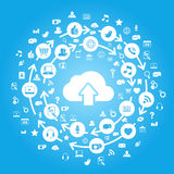 Internet Cloud Computing Blue Stock Images