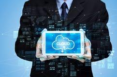 Internet cloud computing concept stock image