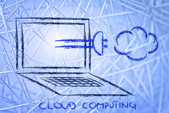 Internet, cloud computing and data transfer Royalty Free Stock Images
