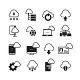 Internet cloud computing vector icon set Royalty Free Stock Image