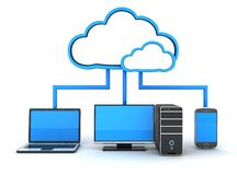 Internet cloud, concept Stock Photography