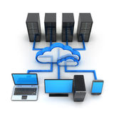 Internet cloud, concept Royalty Free Stock Photos