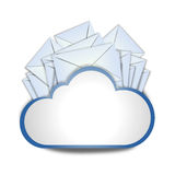 Internet cloud with envelopes. Means messaging Royalty Free Stock Photo