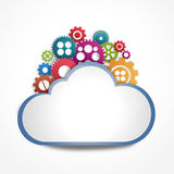 Internet cloud with gears Royalty Free Stock Images