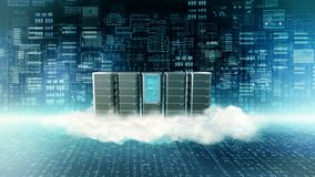 Internet Cloud Serve concept vector illustration