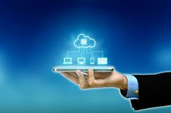 Internet cloud multi platform connection royalty free stock photos