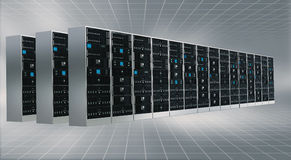 Internet Cloud server cabinet Stock Images
