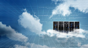 Internet Cloud server cabinet Royalty Free Stock Photos