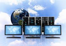 Internet Cloud server concept Stock Photography