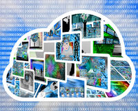 Internet cloud Stock Images