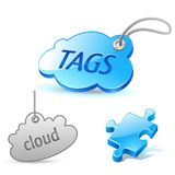 Internet cloud tag icon Stock Photos