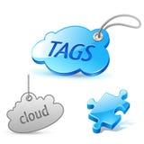 Internet cloud tag icon Stock Photos