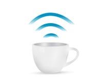 Internet coffee mug concept illustration design Stock Images
