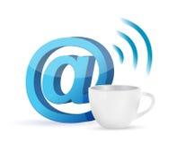 Internet coffee mug concept illustration Royalty Free Stock Photo