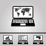 Internet commerce icons. Stock Photography