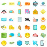 Internet commerce icons set, cartoon style. Internet commerce icons set. Cartoon style of 36 internet ommerce vector icons for web isolated on white background Stock Images