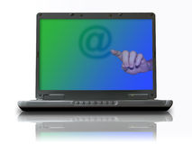 Internet communication. Email is the most common communication gateway around the world Royalty Free Stock Photography