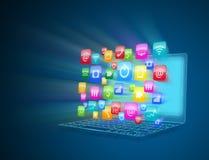 Internet communication and cloud computing. Computer technology, internet communication and cloud computing Stock Photography