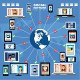 Internet communication. Royalty Free Stock Photo