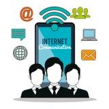 Internet communication design Royalty Free Stock Photography