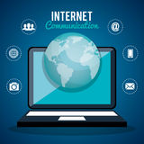 Internet communication design Royalty Free Stock Photo