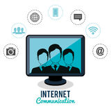 Internet communication design Royalty Free Stock Photos