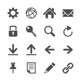 Internet communication icon set, vector eps10 Royalty Free Stock Images