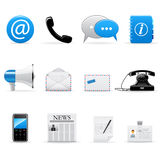 Internet communication icons. Vector web and communication icons set Royalty Free Stock Images
