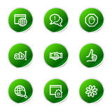 Internet communication icons Royalty Free Stock Image