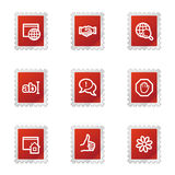Internet communication icons Stock Photo
