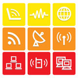 Internet and communication icons set great for any use. Vector EPS10. Stock Photos